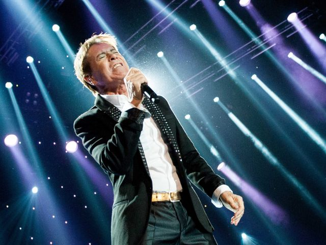 Cliff Richard performs at charity fundraiser