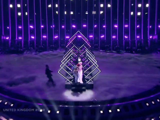 UK Eurovision performer has mic snatched