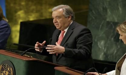 UN Secretary-General Visits Central African Republic Peacekeeping Mission