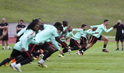Portugal holds final training session before World Cup qualifier