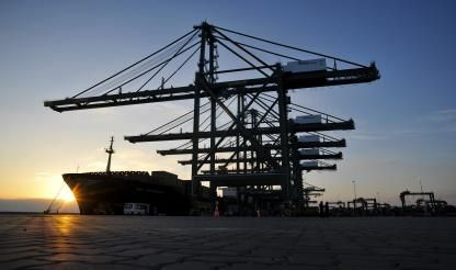 Ports handle more goods