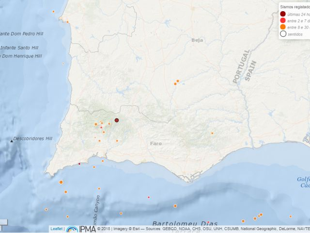Earthquake rumbles around Monchique