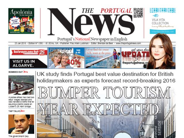 January 2016 - Bumper tourism year predicted