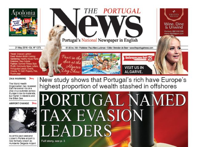 May 2016 - Portugal named tax evasion leaders