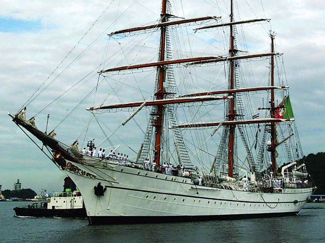 Tall ship, Sagres, calls at Cape Verde en-route to Brazil