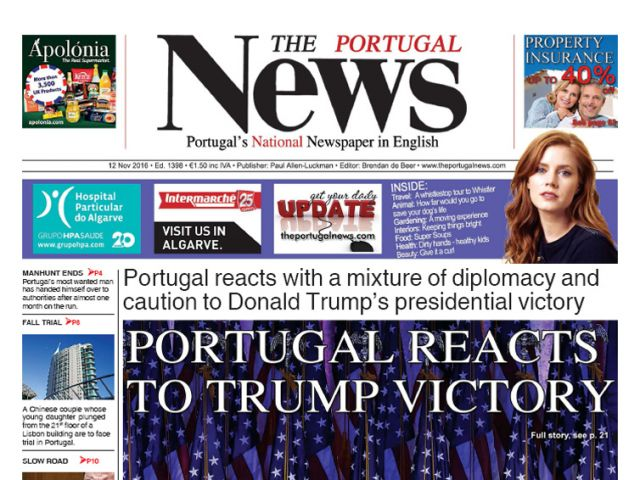 November 2016 - Portugal reacts to Trump victory