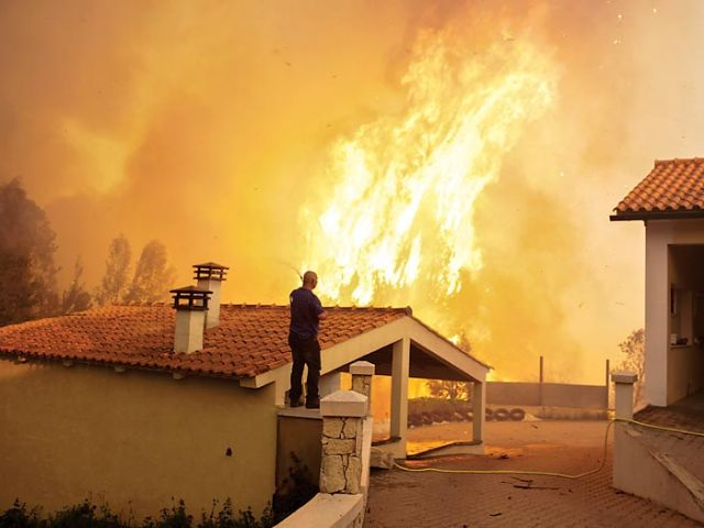 Fire warning issued as Portugal warms up