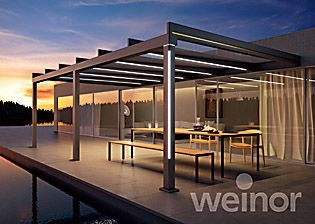 Cubically Beautiful New Cubic Patio Roof From Weinor The